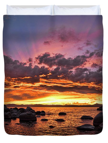 Secret Cove Sunset Duvet Cover