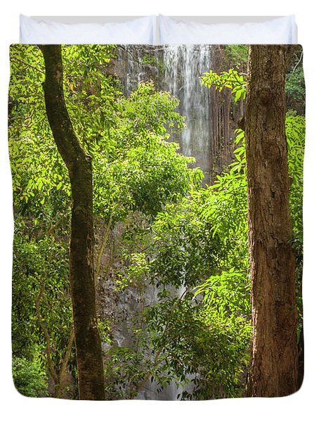 Secret Falls 3 - Kauai Hawaii Duvet Cover by Brian Harig