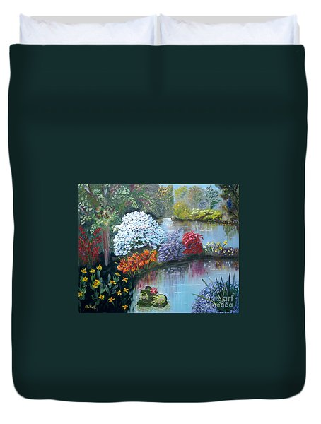 Secret Garden Duvet Cover by Phyllis Kaltenbach
