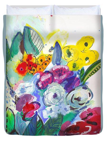 Secret Garden With Wild Flowers Duvet Cover