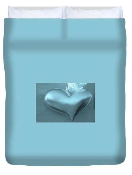 Duvet Cover featuring the photograph Secret Heart by Juergen Weiss