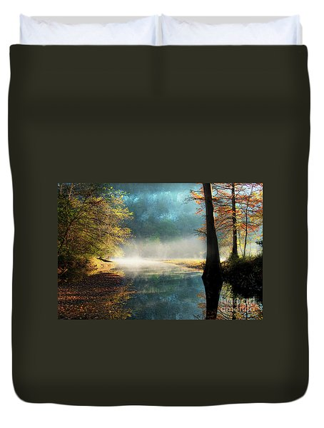 Secret Hideaway At Beavers Bend Duvet Cover