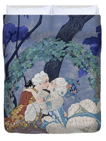 Secret Kiss Duvet Cover by Georges Barbier