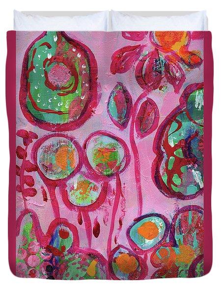 Secret Life Of Flowers Duvet Cover