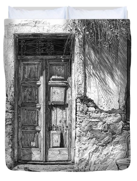Secret Of The Closed Doors Duvet Cover