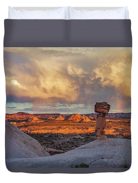 Secret Spire Sunset 1 Duvet Cover