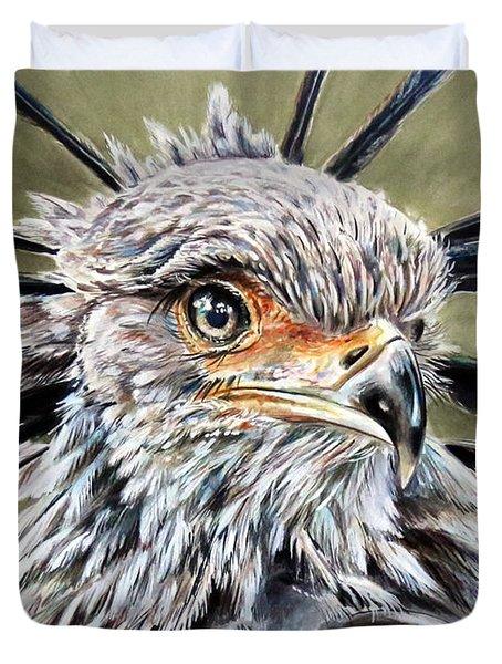 Secretary Bird Duvet Cover
