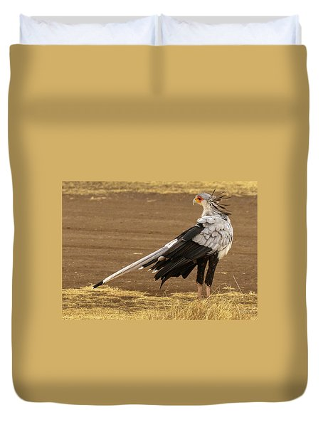 Secretary Bird Tanzania Duvet Cover