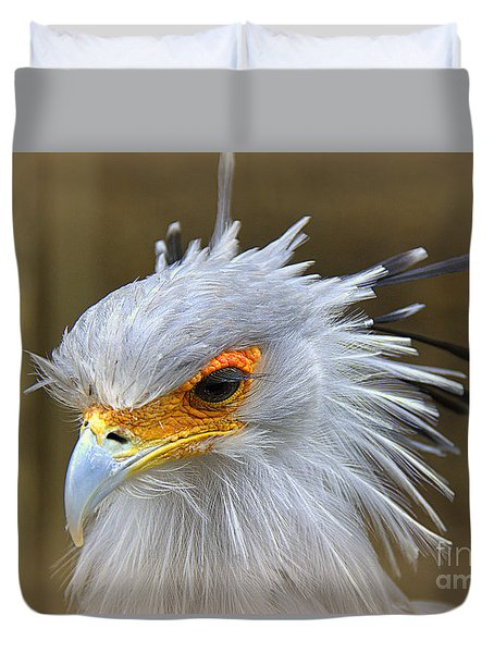 Duvet Cover featuring the photograph Secretary by Lisa L Silva