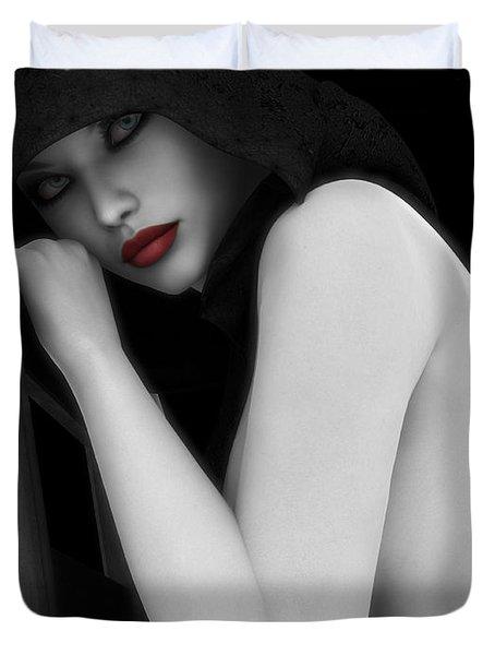 Secretive Lust Duvet Cover by Alexander Butler
