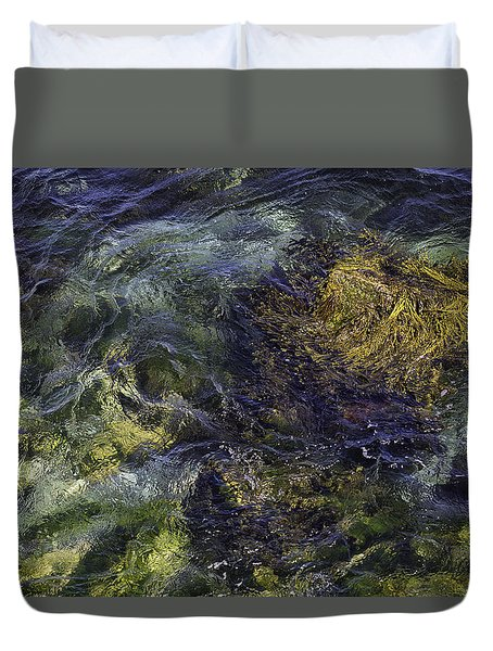 Duvet Cover featuring the photograph Secrets Of The Sea by John Hoey