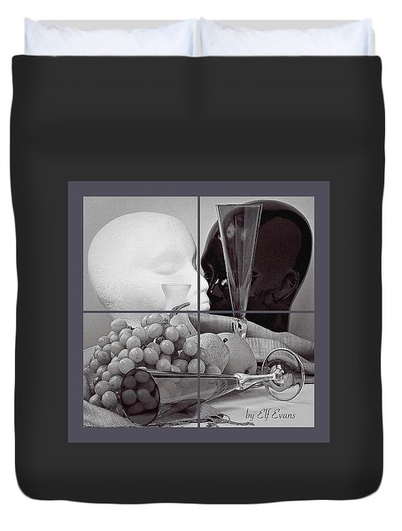 Duvet Cover featuring the photograph Sections by Elf Evans