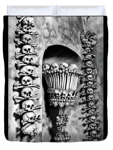 Duvet Cover featuring the photograph Sedlec Ossuary - Czech Republic by Stuart Litoff