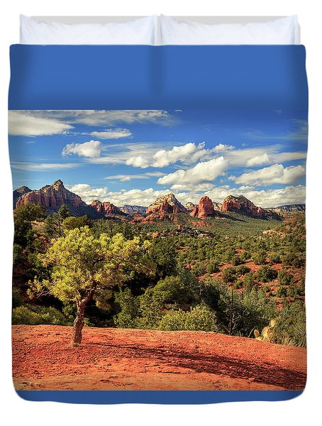 Sedona Afternoon Duvet Cover by James Eddy