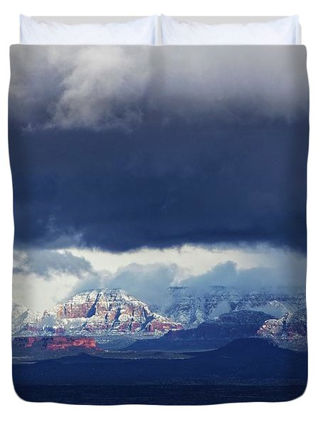 Sedona Area Third Winter Storm Duvet Cover