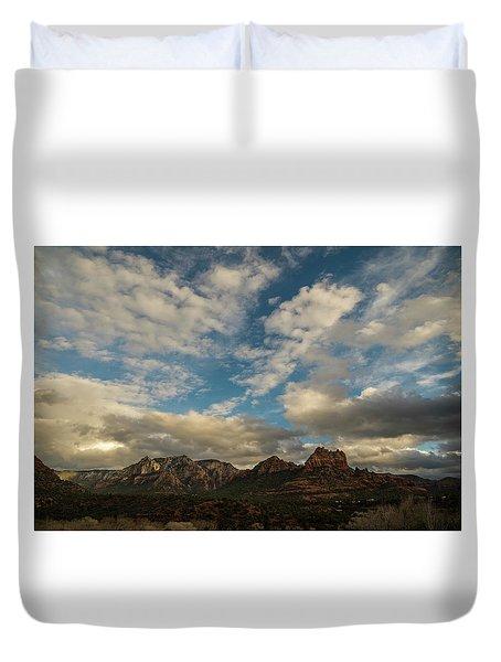 Sedona Arizona Redrock Country Landscape Fx1 Duvet Cover by David Haskett