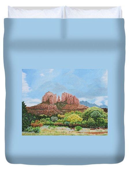 Sedona Az Duvet Cover by Mike Ivey