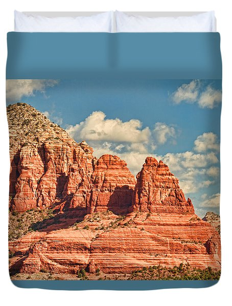 Duvet Cover featuring the photograph Sedona Formation by Kim Wilson