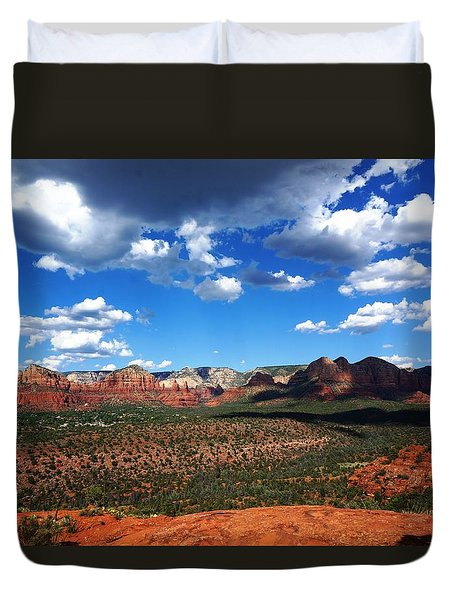 Duvet Cover featuring the photograph Sedona by Julia Ivanovna Willhite