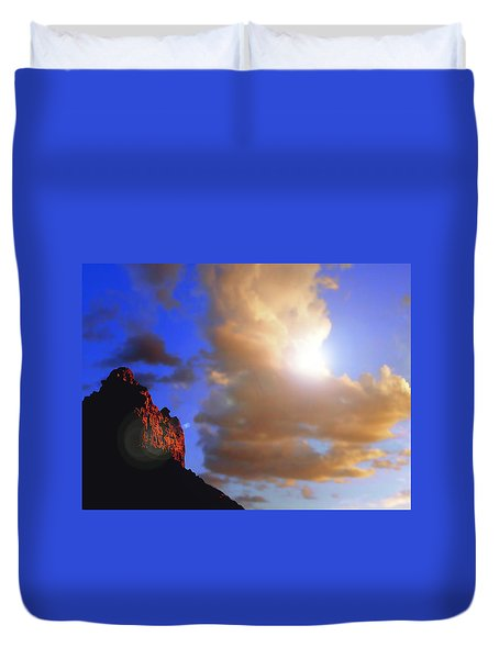 Sedona Mountain Cloud Sun Duvet Cover