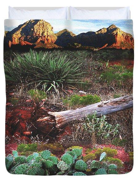 Sedona Mountain Sunrise Duvet Cover
