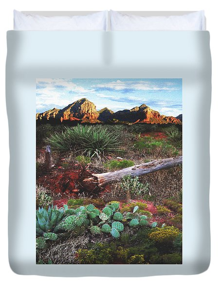 Sedona Mountain Sunrise Duvet Cover