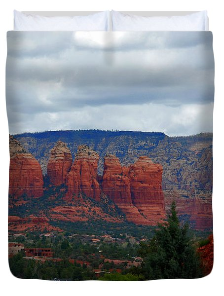 Sedona Mountains Duvet Cover by Susanne Van Hulst