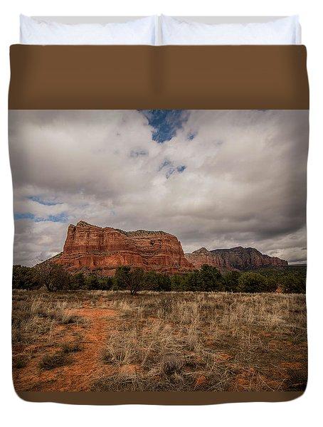 Sedona National Park Arizona Red Rock 2 Duvet Cover by David Haskett