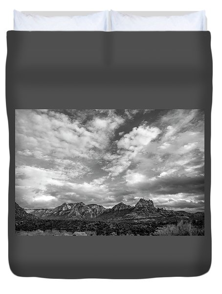 Sedona Red Rock Country Bnw Arizona Landscape 0986 Duvet Cover by David Haskett