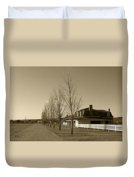 Duvet Cover featuring the photograph Sedona Series - Alley by Ben and Raisa Gertsberg
