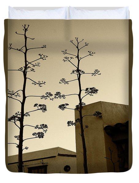 Duvet Cover featuring the photograph Sedona Series - Desert City by Ben and Raisa Gertsberg
