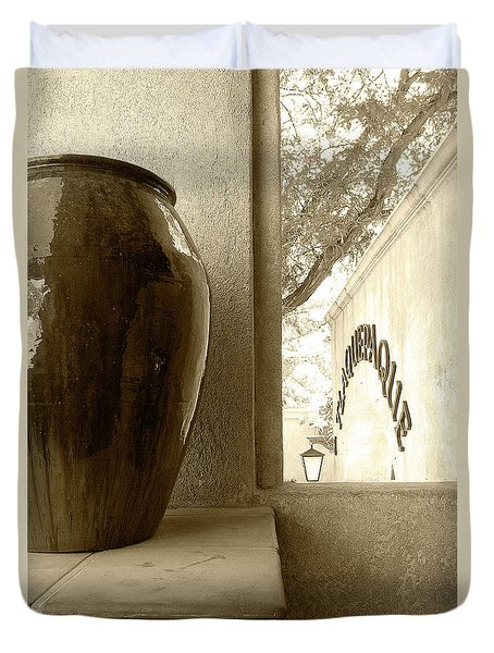 Duvet Cover featuring the photograph Sedona Series - Jug And Window by Ben and Raisa Gertsberg