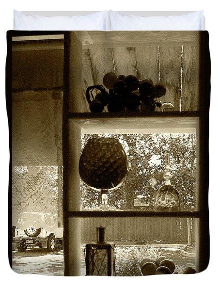 Duvet Cover featuring the photograph Sedona Series - Window Display by Ben and Raisa Gertsberg