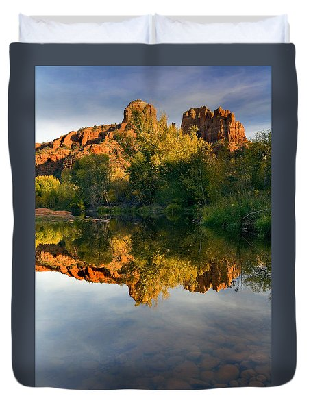 Sedona Sunset Duvet Cover by Mike  Dawson