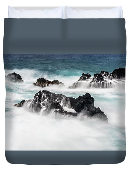 Duvet Cover featuring the photograph Seduced By Waves by Jon Glaser
