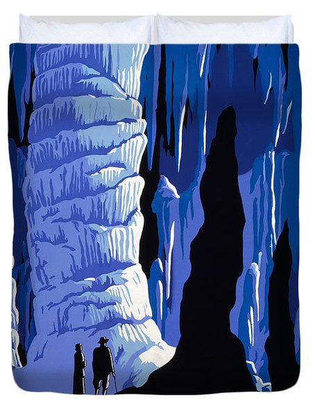 See America - Cave Wpa Travel Poster Duvet Cover