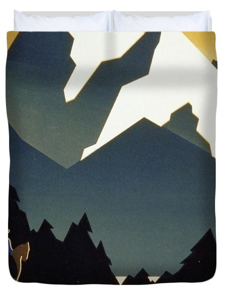 See America Welcome To Montana Duvet Cover by M Weitzman