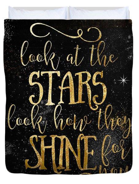 See How The Stars Shine Duvet Cover