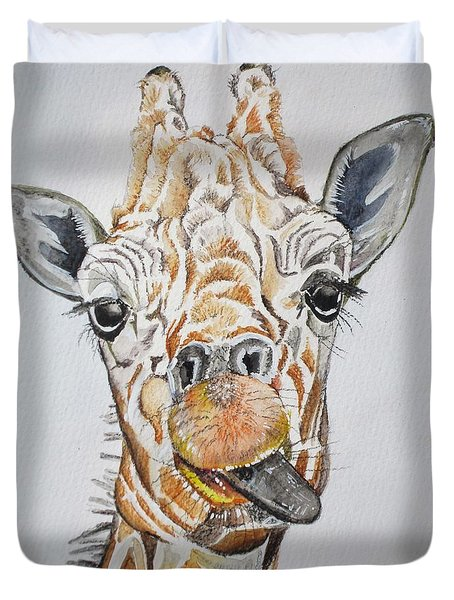 See My Tongue Duvet Cover