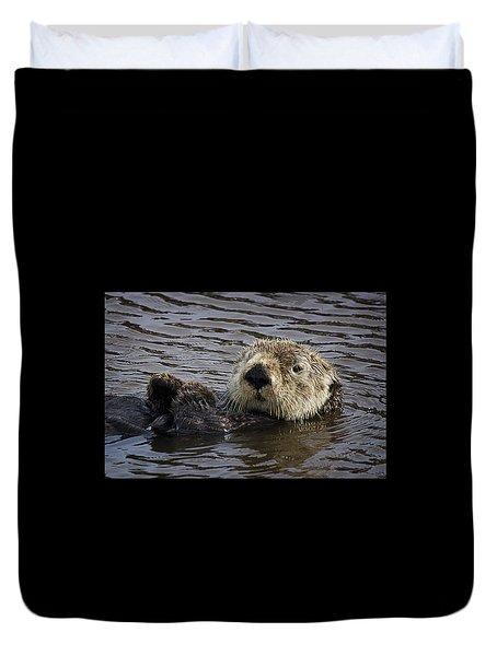 See Otter Posing Duvet Cover