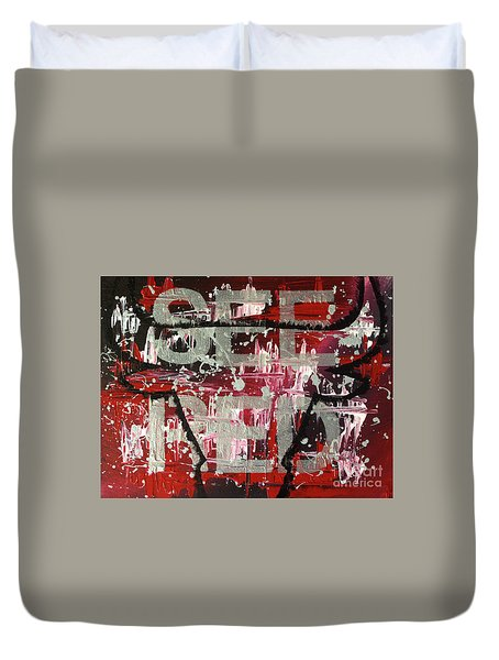 See Red Chicago Bulls Duvet Cover by Melissa Goodrich