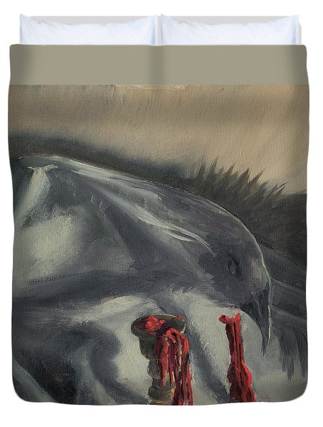 See You In The Shadows Duvet Cover