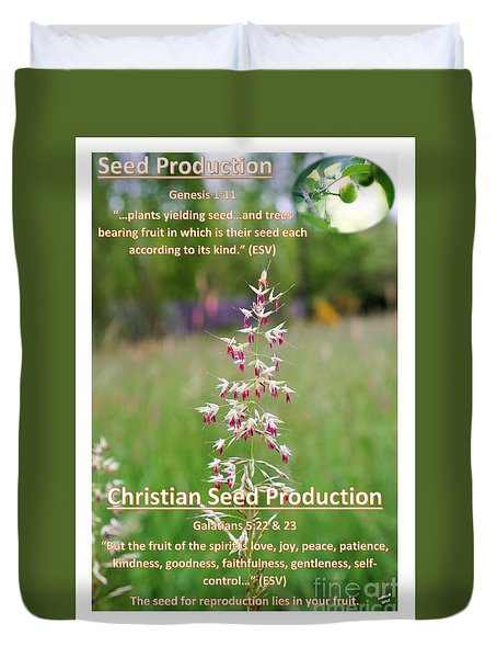 Seed Production Duvet Cover