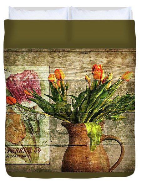 Seed To Flower Duvet Cover