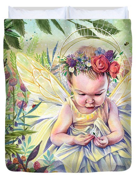 Seedling Duvet Cover by Sara Burrier