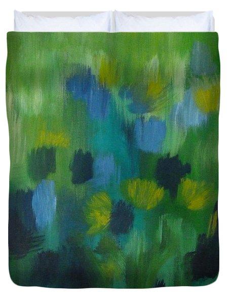 Seedtime Green Duvet Cover