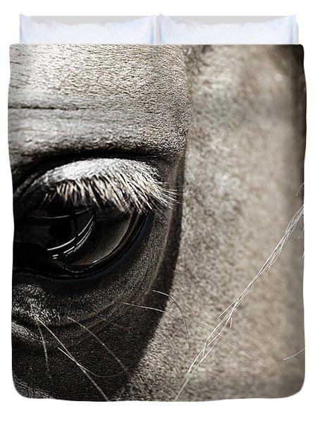 Stillness In The Eye Of A Horse Duvet Cover