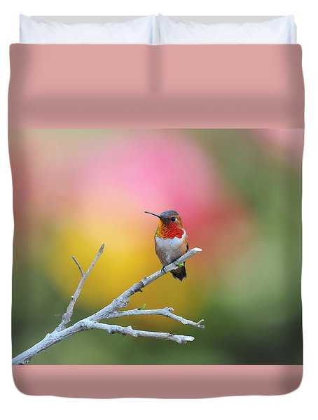 Seeing Red Duvet Cover by Lynn Bauer