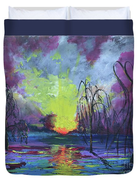 Seeing Through The Truth Duvet Cover
