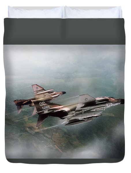 Duvet Cover featuring the digital art Seek And Attack by Peter Chilelli